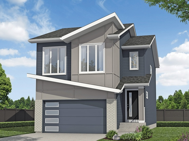 Carrington South_Ashton_ElevK_White - Excel Homes2